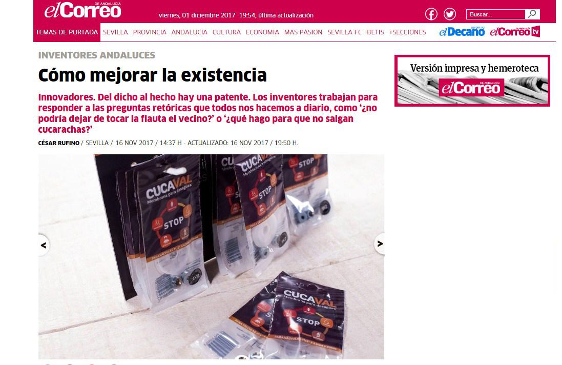 El Correo de Andalucía se hace eco de nuestros productos